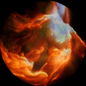 Cosmic Journey Nebula - Warped