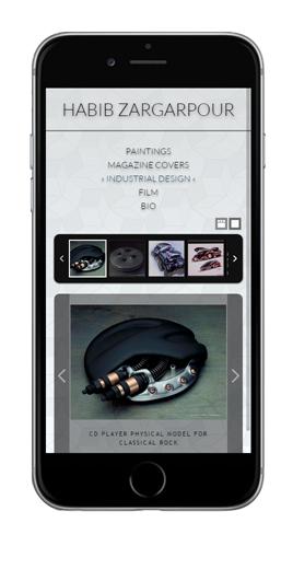 Zargarpour.net iPhone