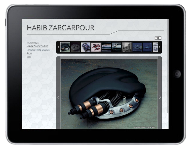 Zargarpour.net iPad