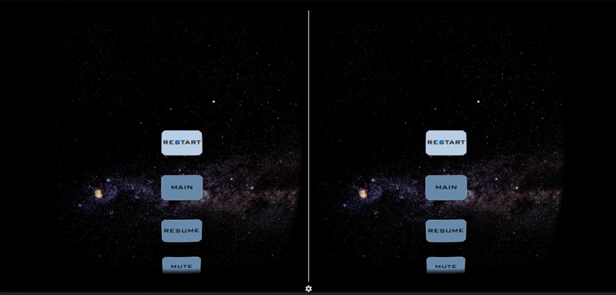 Pluto FlyBy VR - Vertical Menu